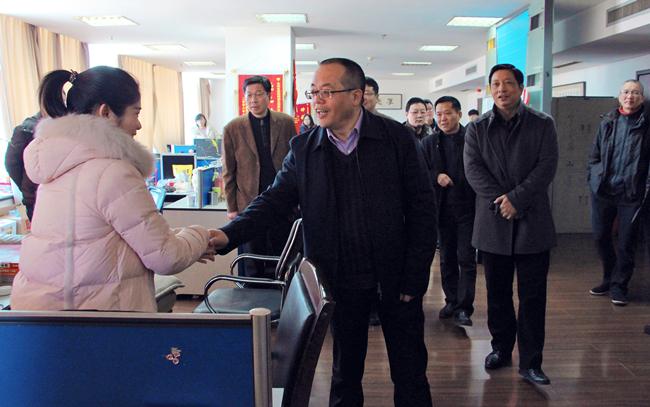 台州市委常委胡海良,叶海燕走访广电集团送上新春问候